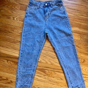 Retro High-Waisted Blue Jeans